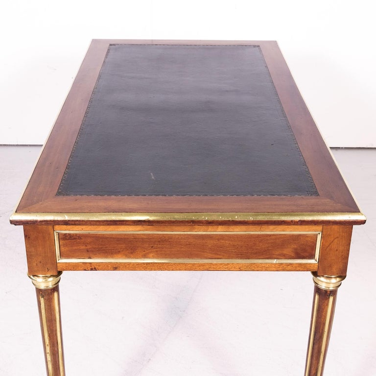 Fine 19th Century French Louis XVI Style Desk with Leather Top and Brass Accents For Sale 10
