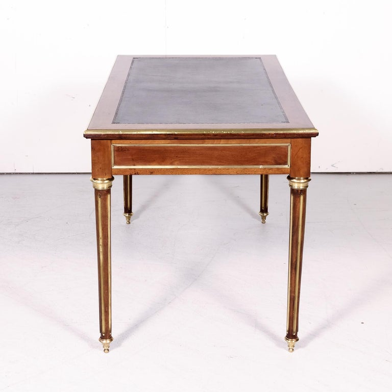 Fine 19th Century French Louis XVI Style Desk with Leather Top and Brass Accents For Sale 11