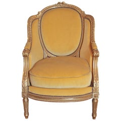 Fine 19th Century French Louis XVI Water Gilt Bergere