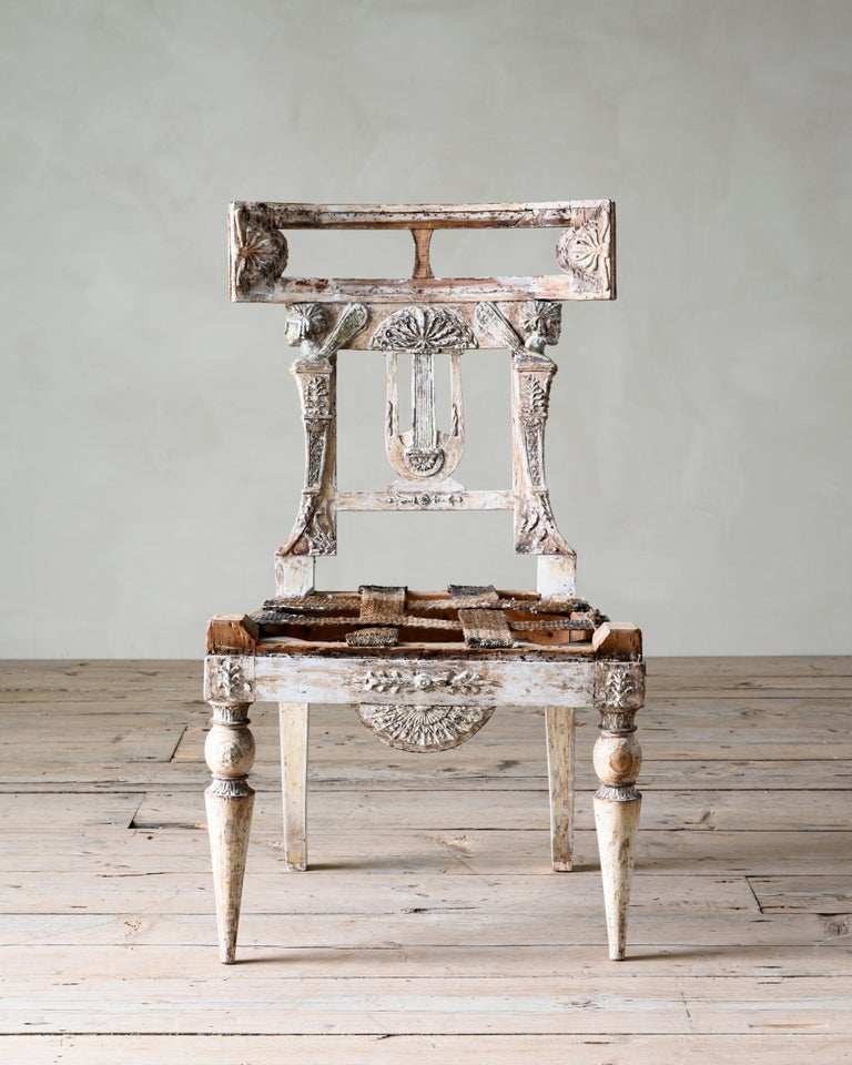 Fine 19th Century Gustavian Chair In Good Condition For Sale In Helsingborg, SE