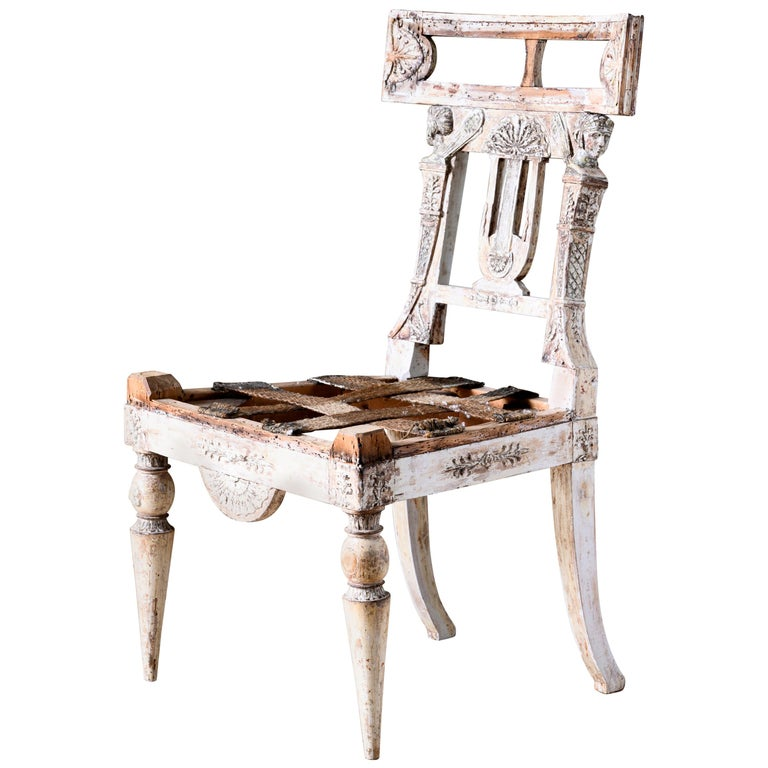 Fine 19th Century Gustavian Chair For Sale