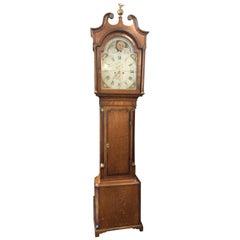 Fine 19th Century Longcase Grandfather Clock with Moon