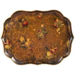 Fine 19th Century Papier-Mâché Tray by Jennings & Bettridge, London Royal Makers