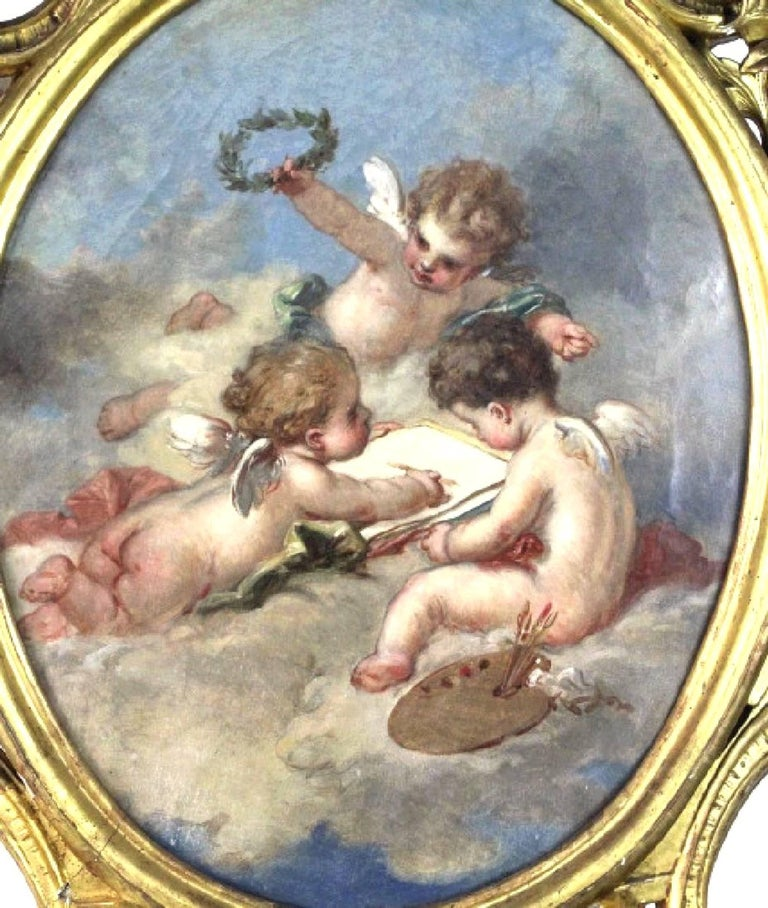19th century Putti Allegory of the Arts