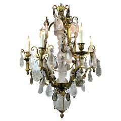 Fine 19th Century Russian Gilt Bronze and Rock Crystal Chandelier
