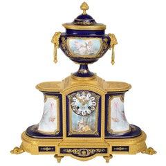 Fine 19th Century Sevres Style Mantel Clock