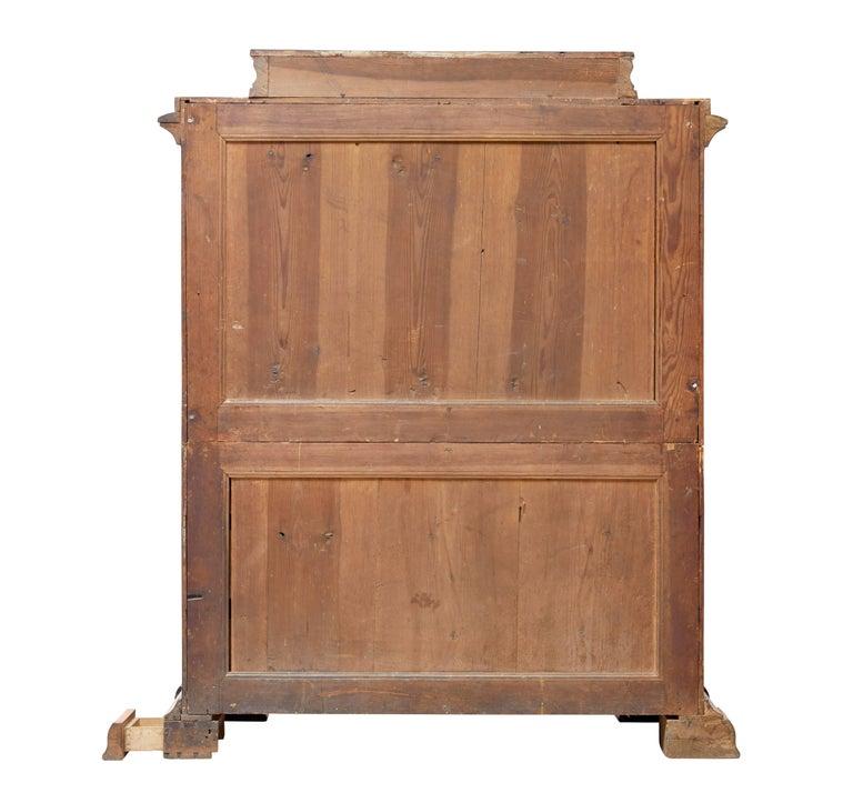Veneer Fine 19th Century Swedish Birch Architectural Secretaire Desk For Sale