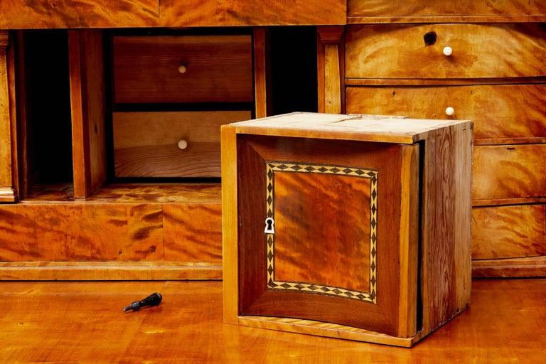 Fine 19th Century Swedish Birch Architectural Secretaire Desk For Sale 4