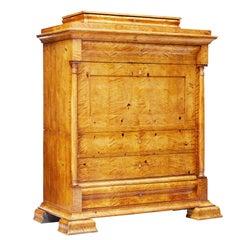 Fine 19th Century Swedish Birch Architectural Secretaire Desk