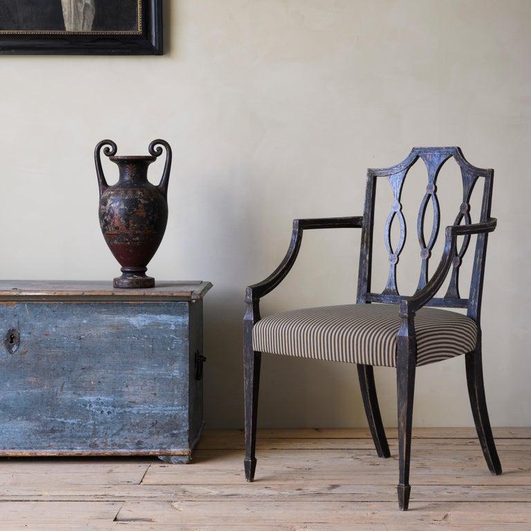 European Fine 19th Century Swedish Early Empire Armchair For Sale