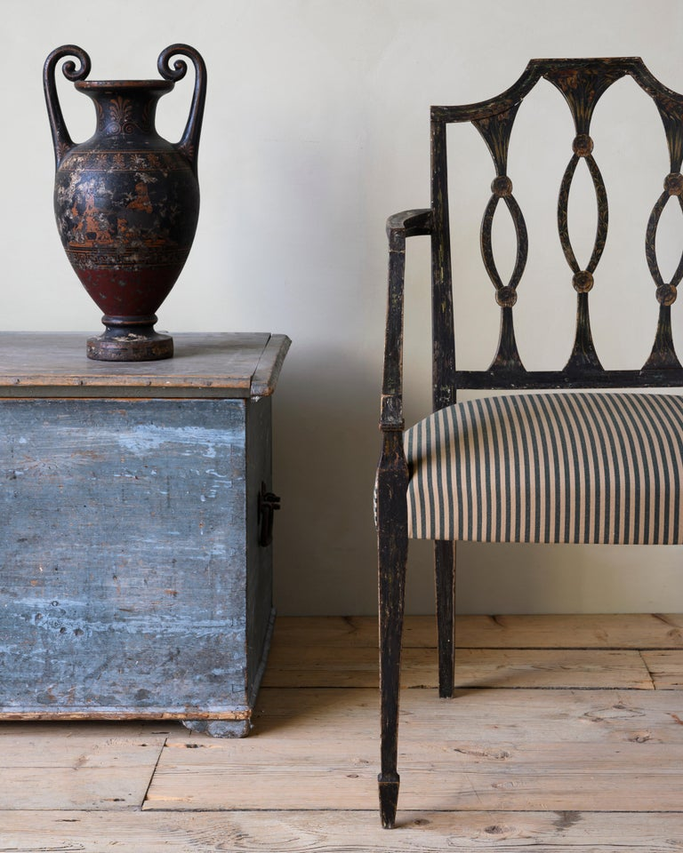 Fine 19th Century Swedish Early Empire Armchair For Sale 1