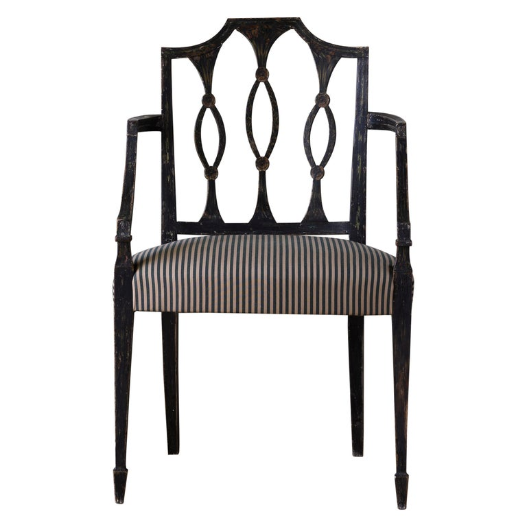 Fine 19th Century Swedish Early Empire Armchair For Sale