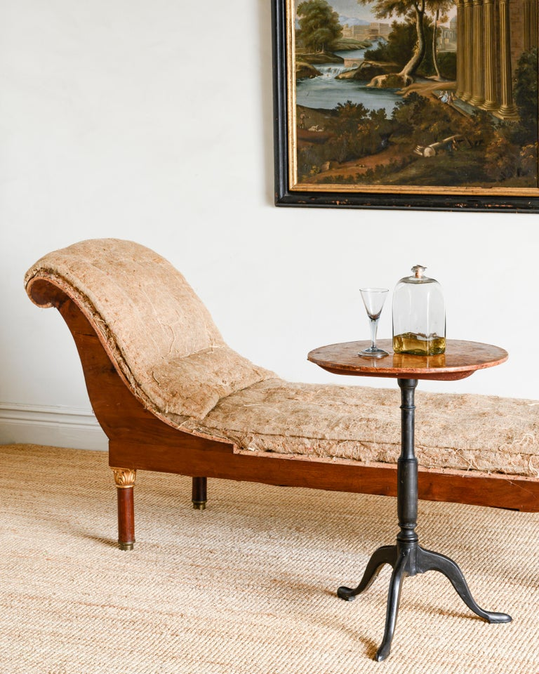 Fine 19th Century Swedish Empire Chaise Lounge In Good Condition For Sale In Helsingborg, SE