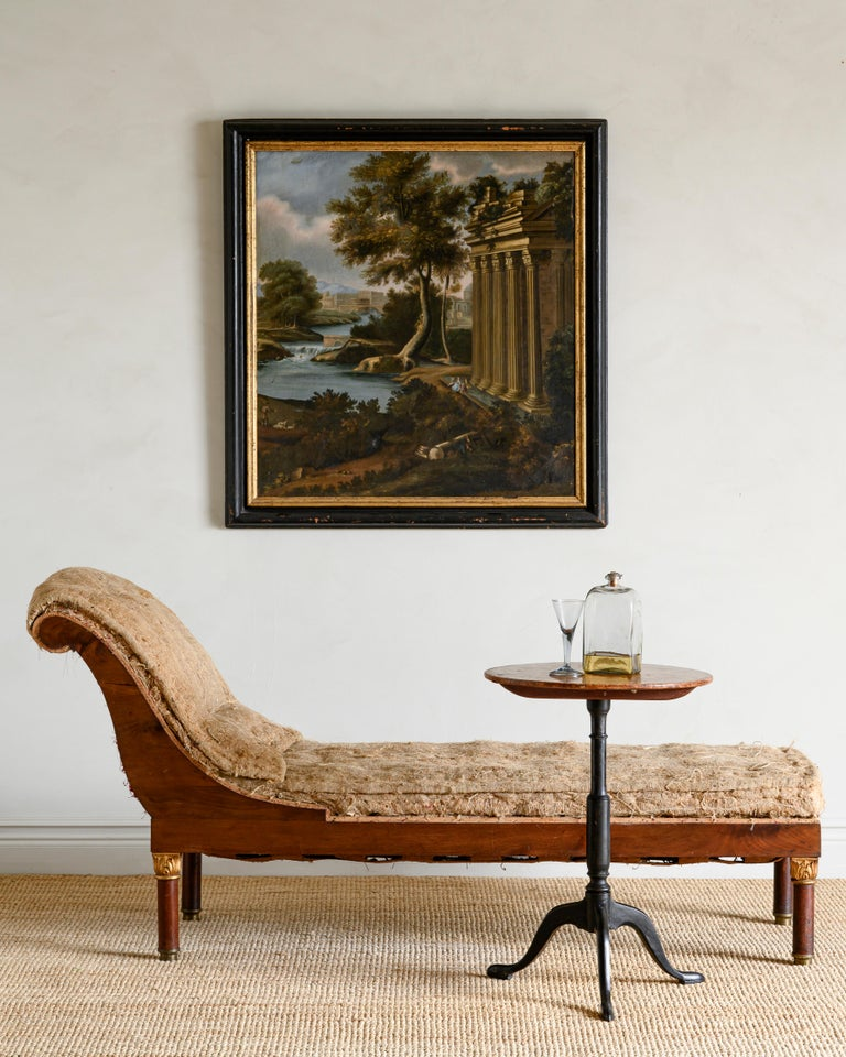 Mahogany Fine 19th Century Swedish Empire Chaise Lounge For Sale