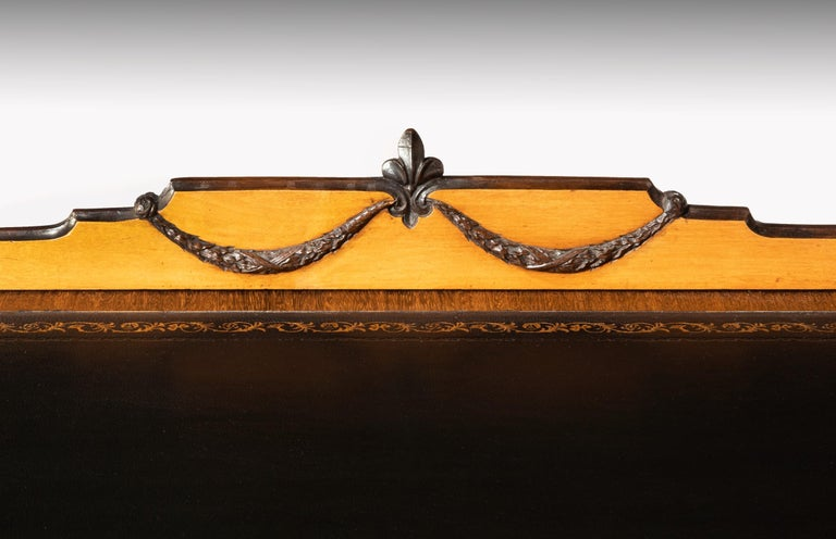 Fine 19th Century Viennese Satin Sycamore Writing Desk For Sale 2