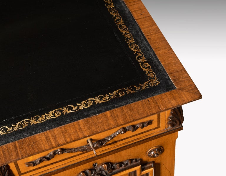 Fine 19th Century Viennese Satin Sycamore Writing Desk For Sale 3