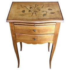 Fine 19th Century Walnut Marquetry Nightstand Cabinet