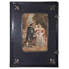 Fine 19th Century Watercolor and Sterling Invitation Art