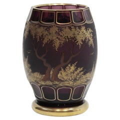Fine 20th Century Art Deco Style Crystal Moser Vase