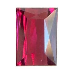 Fine 3.32ct Vivid Pink Rhodolite Garnet Fancy Baguette Cut Rare Gem