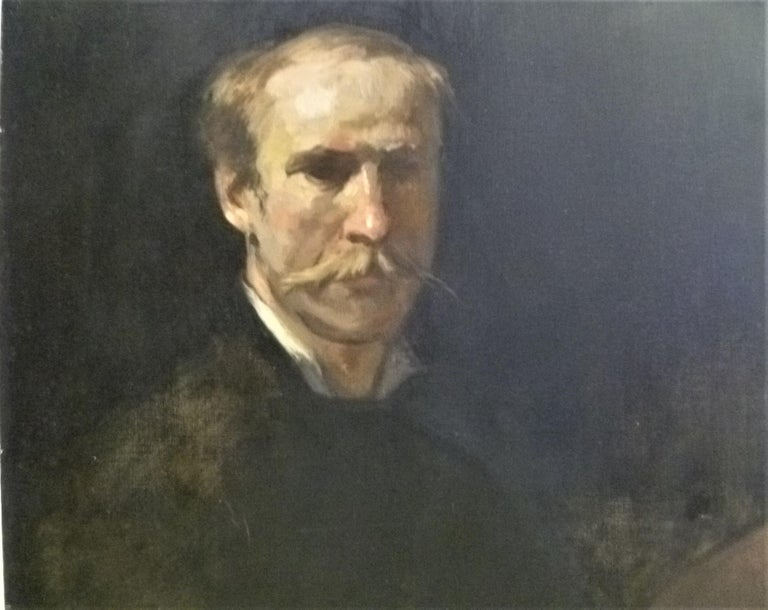 Hand-Painted Fine Academic Portrait of a Man Turn of the Century Ancestor For Sale