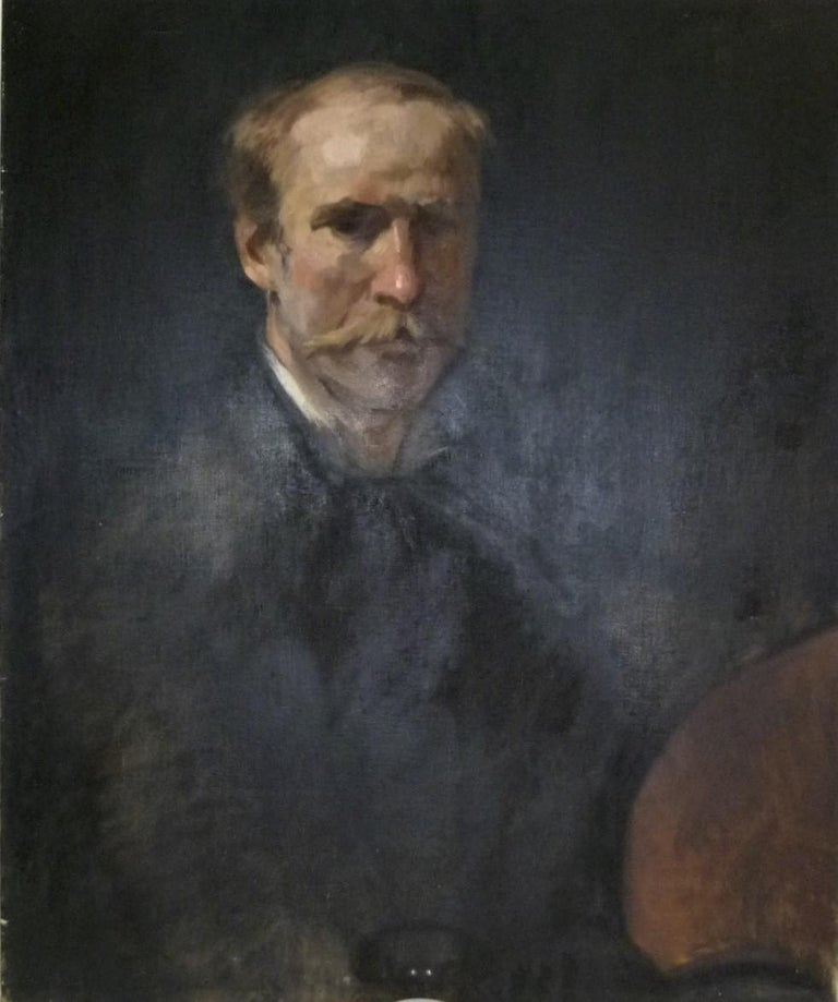 Canvas Fine Academic Portrait of a Man Turn of the Century Ancestor For Sale