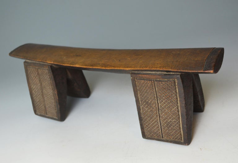 South African Fine African Tribal Fine Antique Zulu Headrest Neck Rest South Africa For Sale