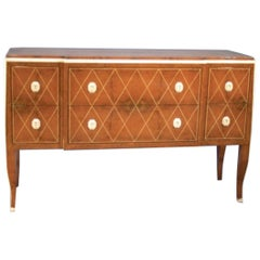 Fine Amboyna and Faux-Ivory Commode