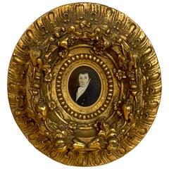 Fine American 18th Century Portrait Miniature of a Gentleman