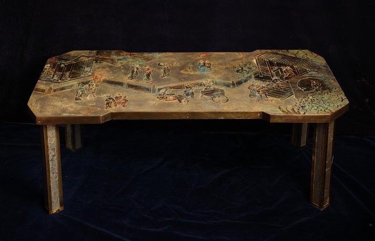 Enameled  Fine American Philip & Kelvin Laverene Rectangular Chinoiserie Coffee Table For Sale