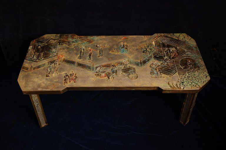 Fine American Philip & Kelvin Laverene Rectangular Chinoiserie Coffee Table In Excellent Condition For Sale In New York, NY