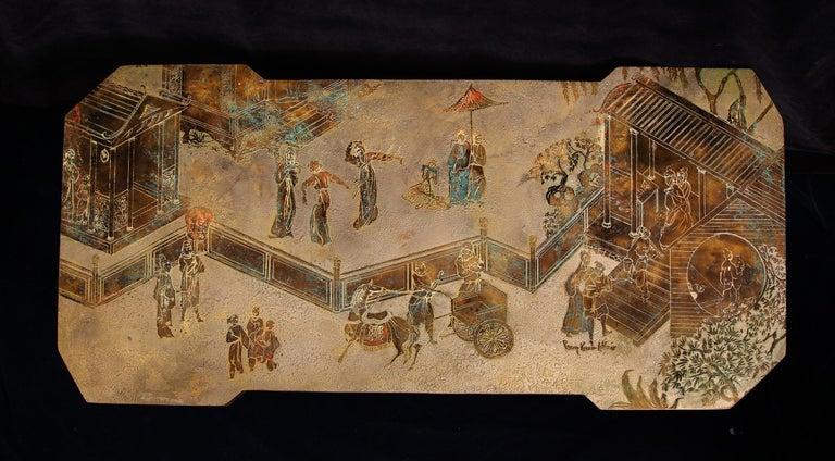 20th Century  Fine American Philip & Kelvin Laverene Rectangular Chinoiserie Coffee Table For Sale