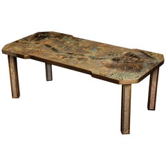 Fine American Philip & Kelvin Laverene Rectangular Chinoiserie Coffee Table