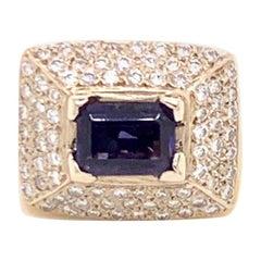 Diamond Amethyst Ring 10k 1.88 TCW Women Certified
