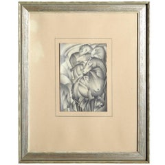 Fine and Charming Cubistic Drawing, Signed