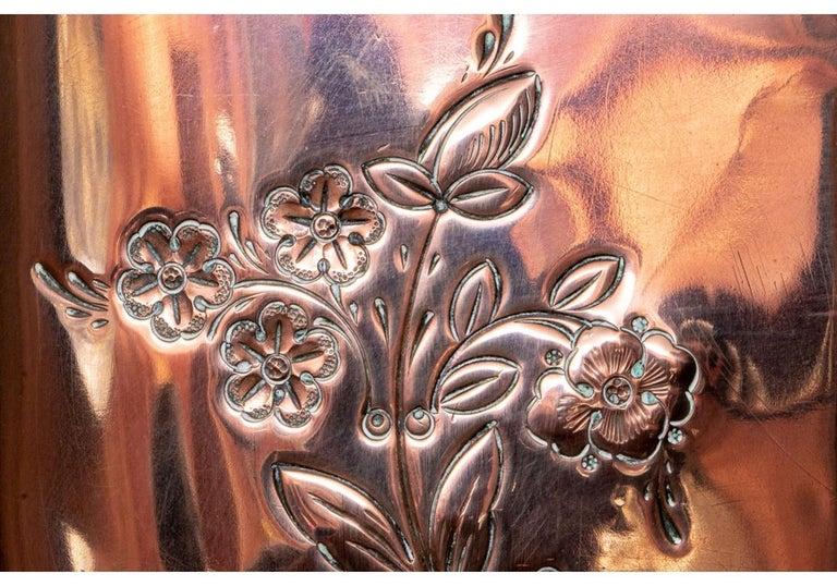 Fine and Decorative 19th Century French Repoussé Copper Lavabo For Sale 1