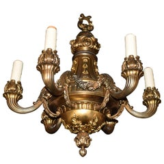 Fine and Elegant Neoclassical Gilt Bronze Chandelier