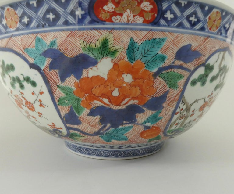 Fine and Large Imari Bowl Decorated with Fish, circa 1680, Genroku Period For Sale 3