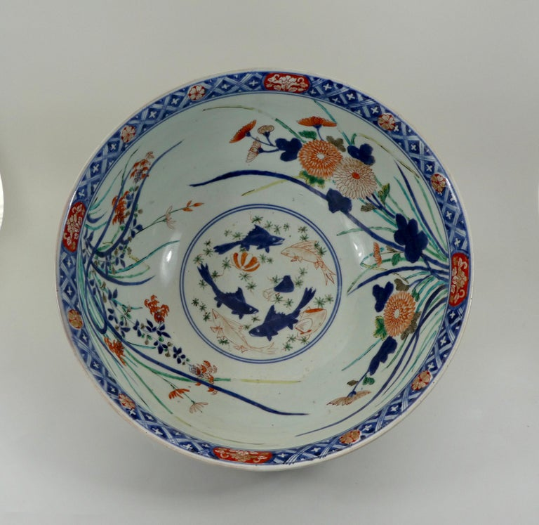 A fine and large Japanese Imari bowl, late 17th century, Genroku, period (1688-1704).