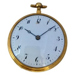 Fine and Rare Antique Gold Quarter Repeater and Musical Pocket Watch