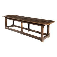Fine and Rare Late 18th Century Oak Trestle Table