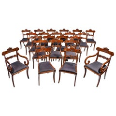 Fine and Rare Set of 22 '20+2' Regency Period Mahogany Dining Room Chairs