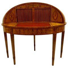 Fine and Unique Satinwood Georgian Writing Table