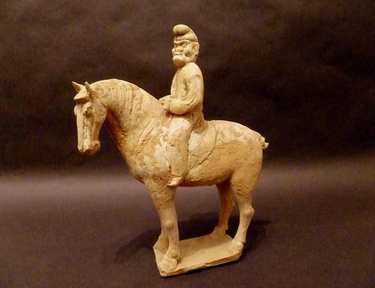Fine and Unusual Standing Horse with a Persian Rider In Good Condition For Sale In Greenwich, CT