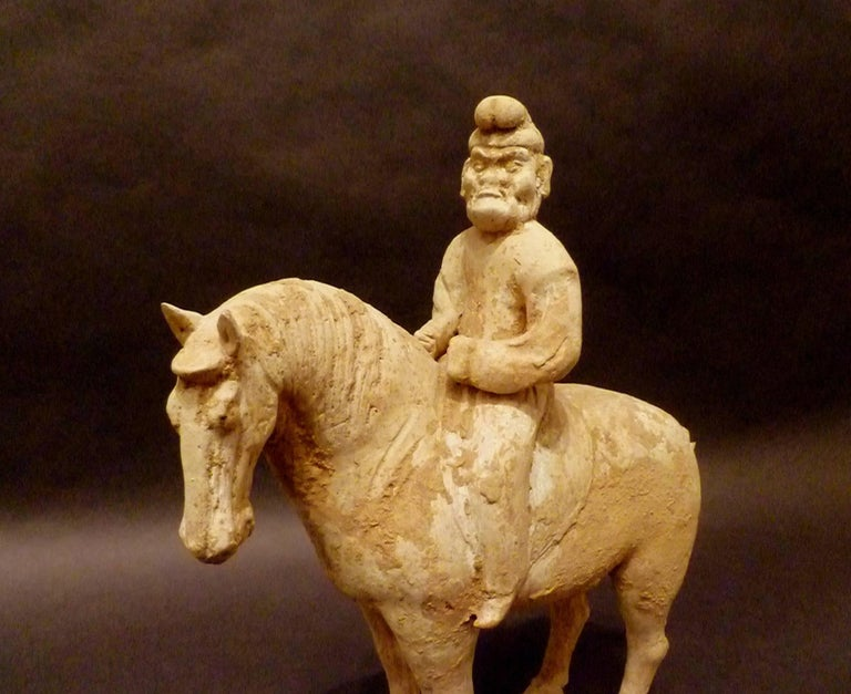 Fine and Unusual Standing Horse with a Persian Rider For Sale 1