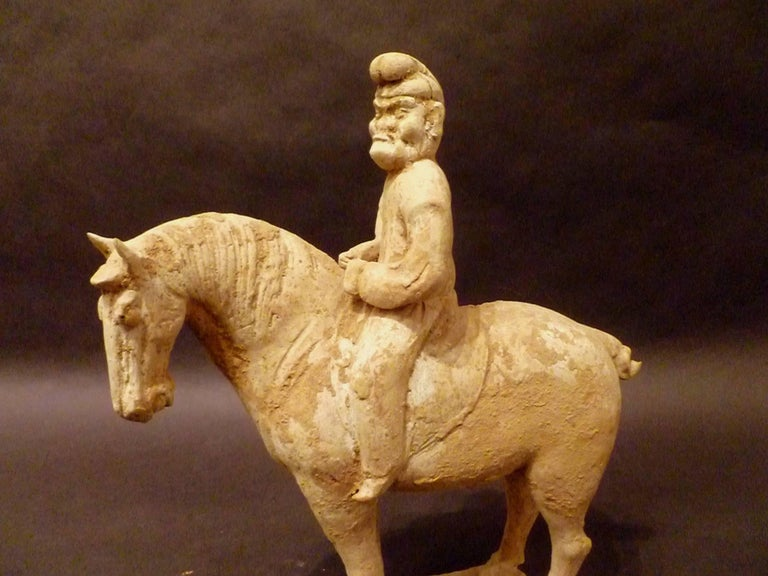 Fine and Unusual Standing Horse with a Persian Rider For Sale 2
