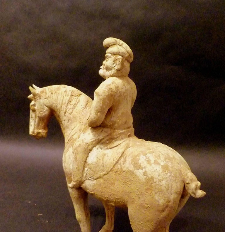 Fine and Unusual Standing Horse with a Persian Rider For Sale 3
