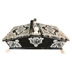 Fine Anglo-Indian Basket-Form Sewing Box, circa 1870