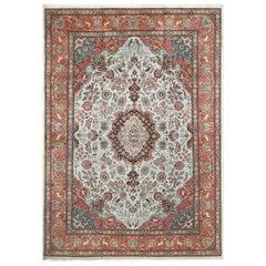 Fine Animal Motif Vintage Tabriz Persian Rug. Size: 11 ft 10 in x 16 ft