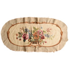 Fine Antiqe French Tapestry, Wool & Silk, Hand Knotted, circa Mid-19th Century
